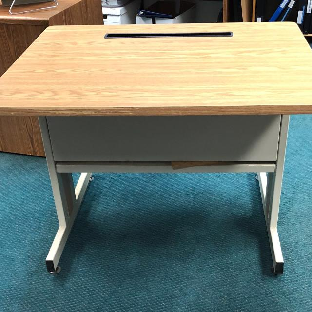 Printer Desk Front View 3 Ft Wide X 30inch Deep 27 Inches High