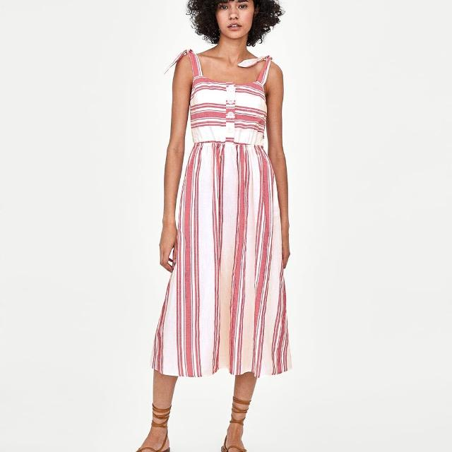 9d2d03cb Find more Zara Strappy Striped Dress Xs for sale at up to 90% off