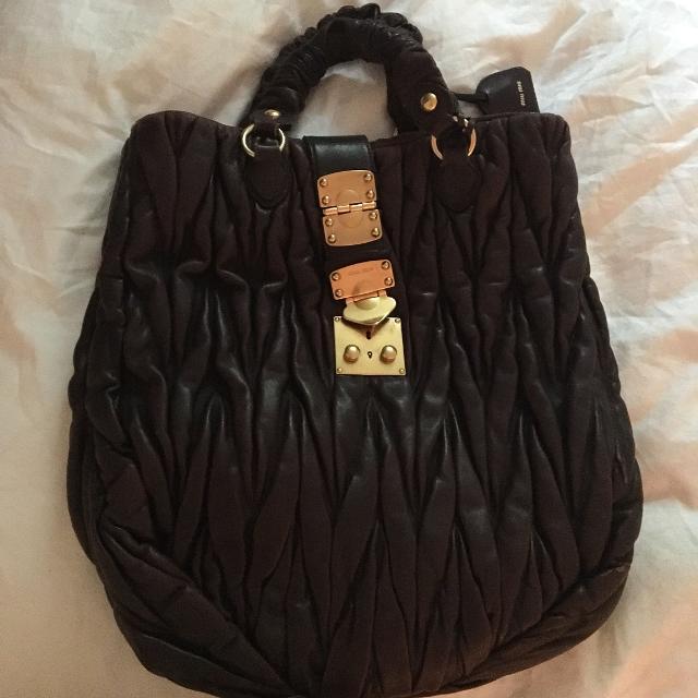 4109ae8a7d93 Best Miu Miu Matelasse Tote Bag for sale in Montréal