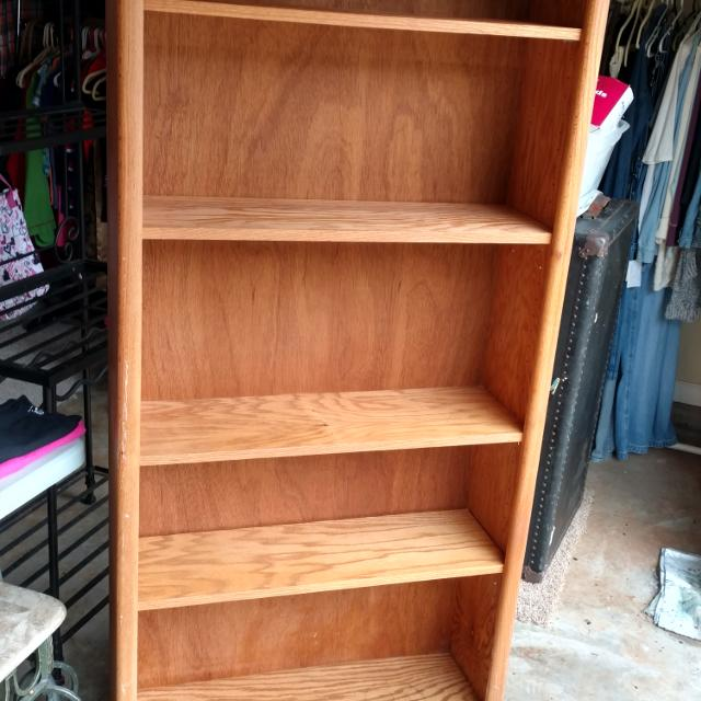 Wood Bookshelf Shelves Are Not Press Board Back Is Thin Plywood Cardboard