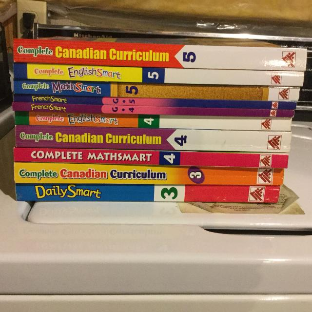 Math, English, French Smartbooks & Complete Canadian Curriculum  Grade 3-5   Only $10