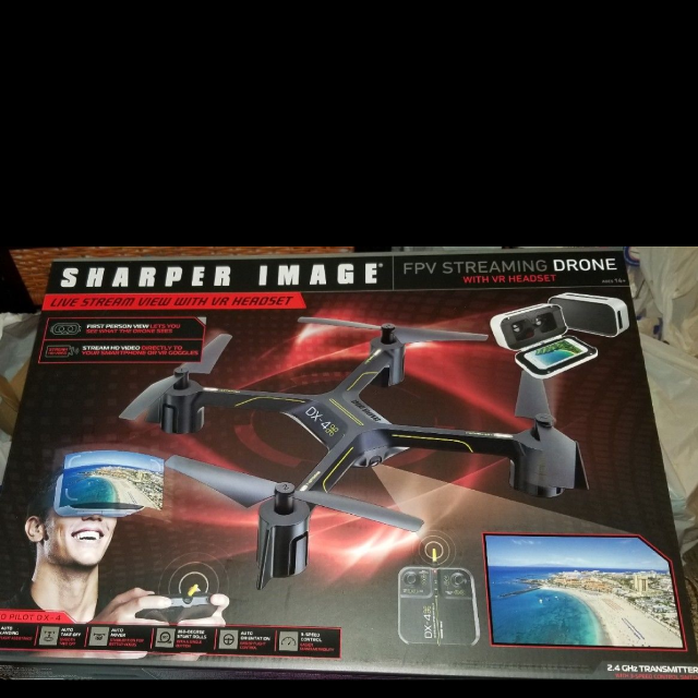 Find More Sharper Image 4x Video Streaming Drone Headset Incl For