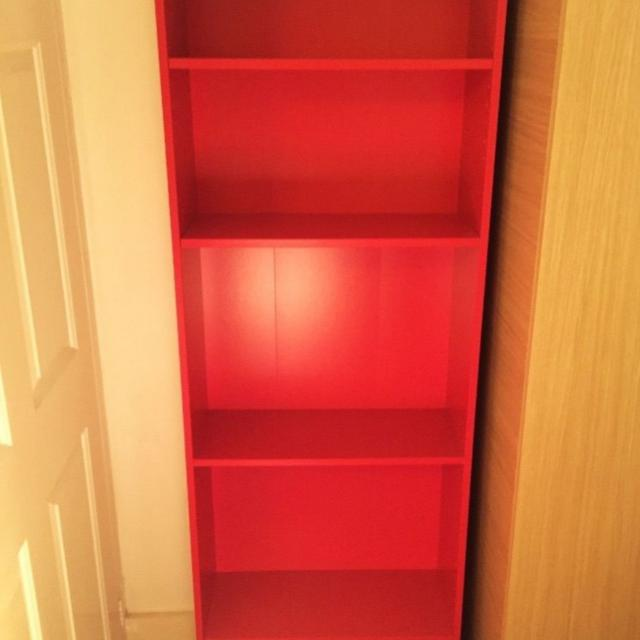 Ikea Red Finnby Bookshelf