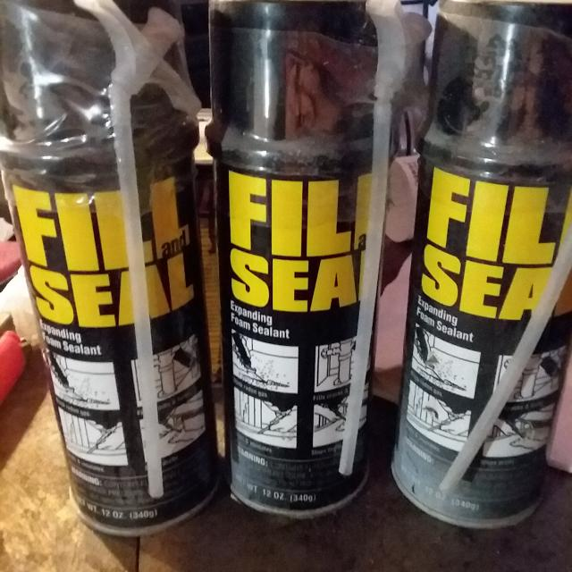 Find more 3 12oz Cans Fill N Seal 1 20 Oz Can Great Stuff
