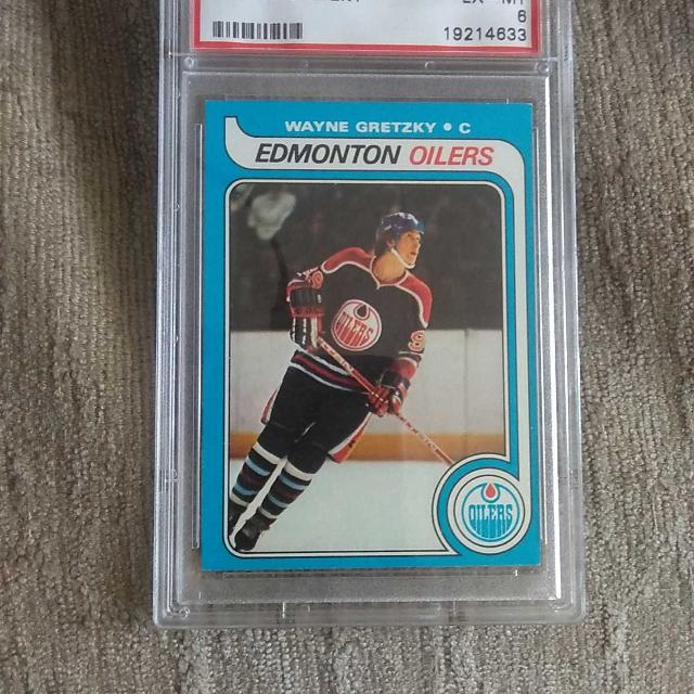 197980 Topps Wayne Gretzky Rookie Card Graded 6