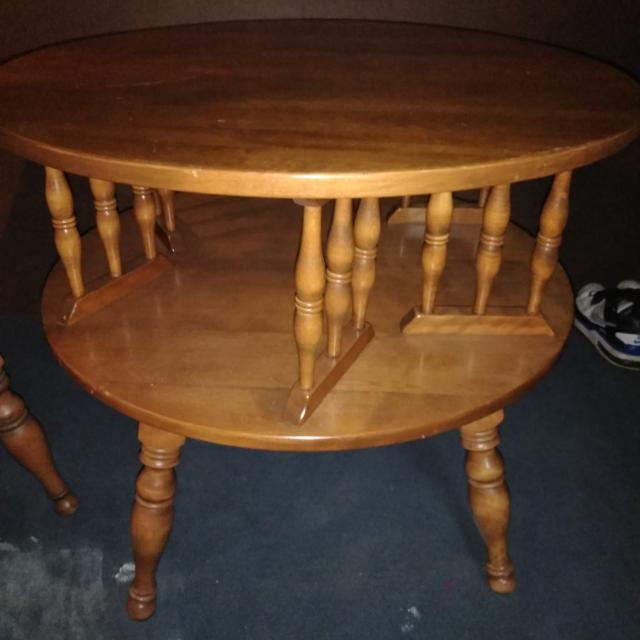 Best Vintage Ethan Allen Round Drum Table For Sale In Akron Ohio For 2020