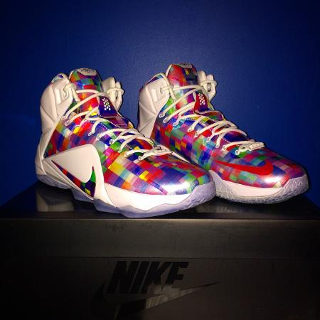 43d7d756a4d Nike Lebron xii Finish Your Breakfast Fruity Pebbles Basketball Shoes, NEW  size 11