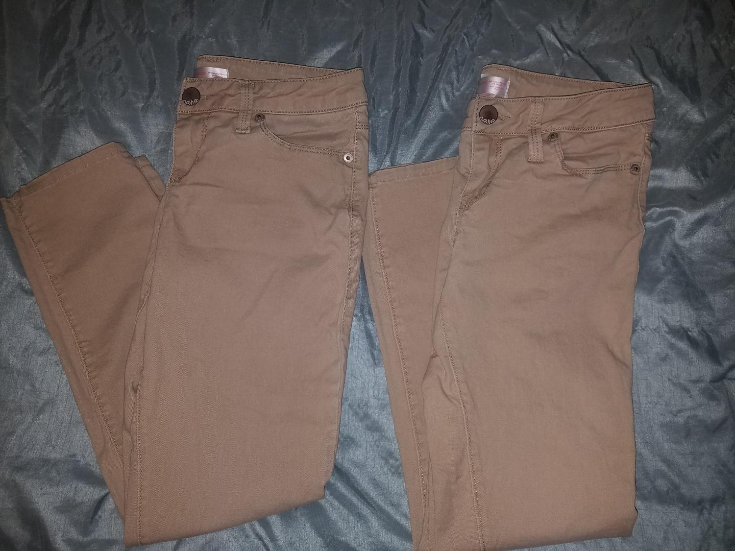 6009c217ab Girls Juniors Womens sz. 5 Skinny Khaki Pants Uniform Causey or Baker School