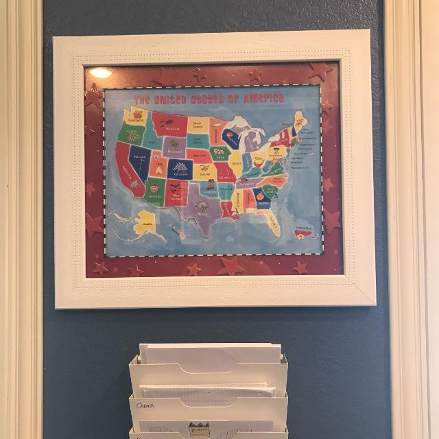 Find More Framed Us Map For Sale At Up To 90 Off