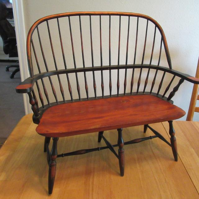 Best Vtg Early American Colonial Spindle Wooden Doll Bench For In Durant Oklahoma 2019