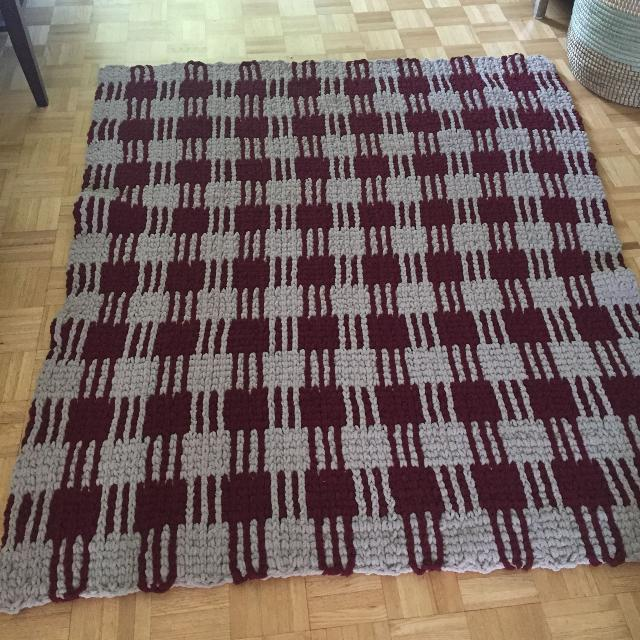 Plaid afghan (blanket) - price drop