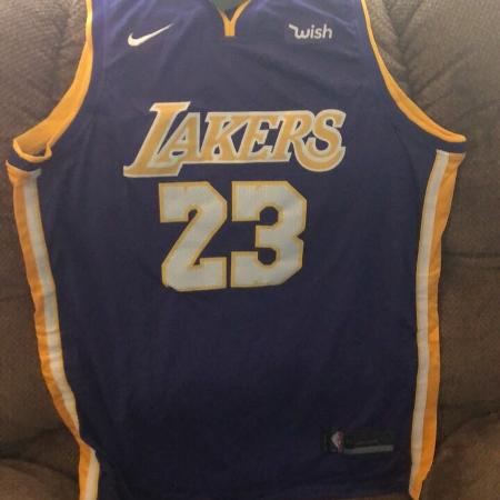 f59e55f22 2019 LeBron James Los Angeles Lakers purple extra large jersey