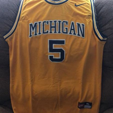 c780b0df0 Throwback fab five Jalen Rose Michigan jersey size extra large