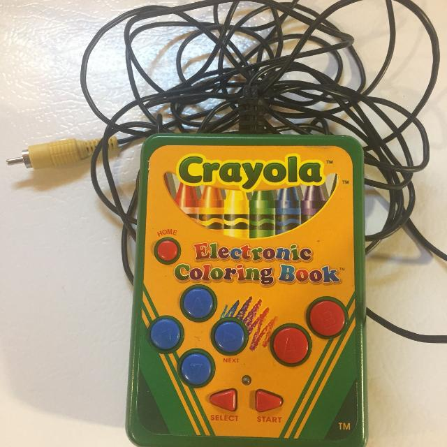 Electronic coloring book