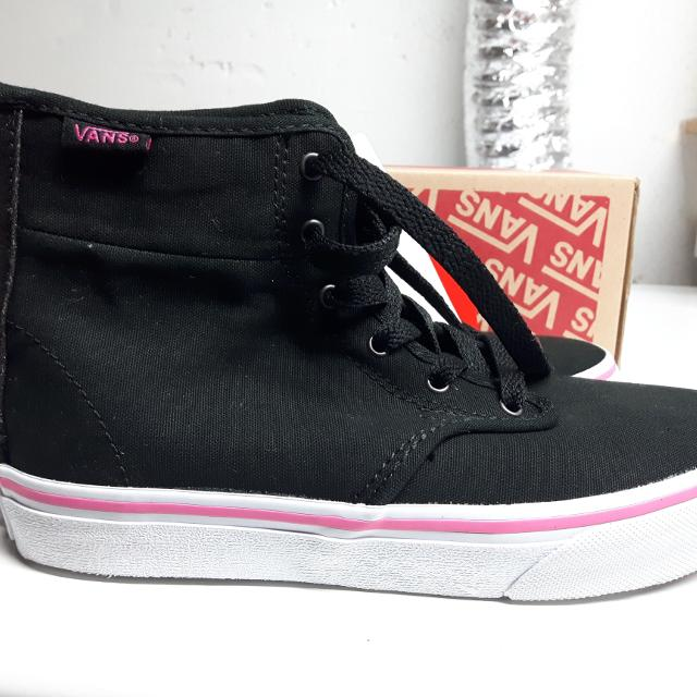 69d55e1509 Best Bnib Girls Black Vans High Tops With Sparkly Zipper Back Sz 2 for sale  in Ajax