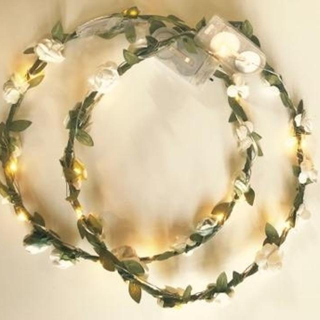 Best 16 White Flower Crowns W/led Lights (never Worn) for sale in ...