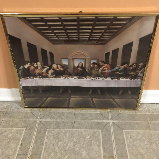 Find More Home Interiors Jesus The Last Supper Picture Framed For