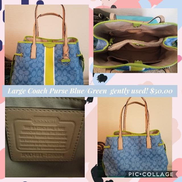 a9ef15b0a3f6 Best Large Coach Purse Blue green for sale in Surprise