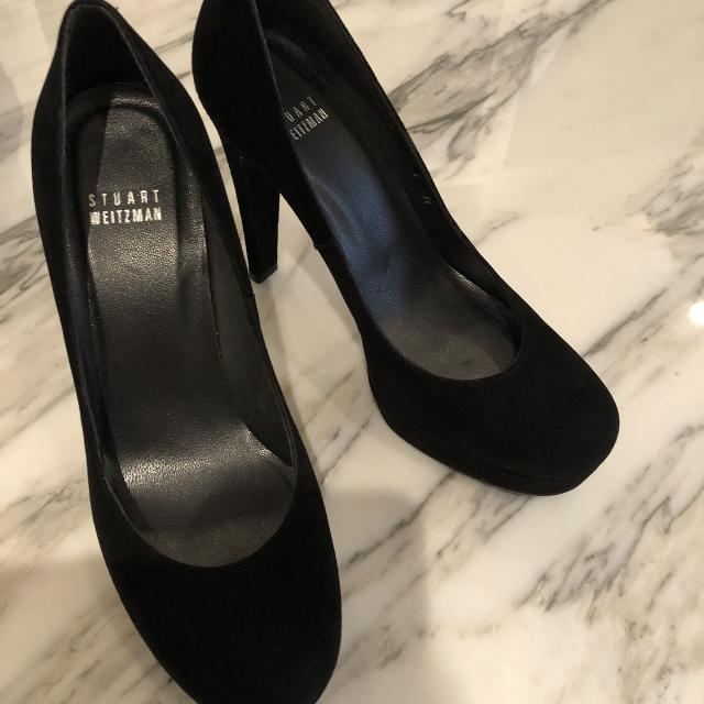 5b044139c00 Find more Stuart Weitzman Size 7 Black Suede Pumps for sale at up to ...