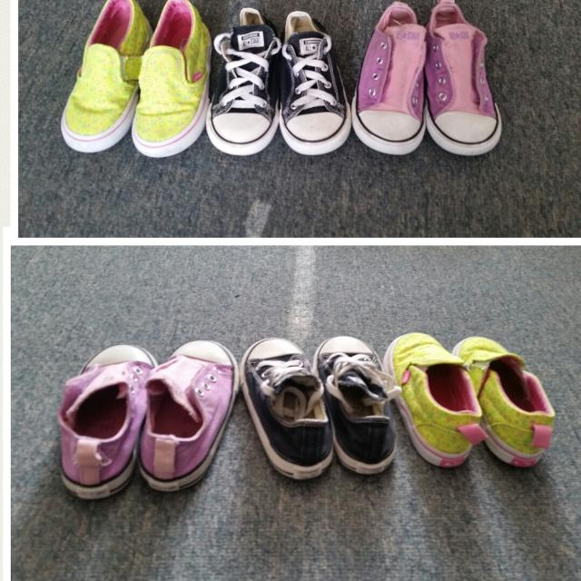 bece6fd34e9a67 Find more Cute Little Girls Size 9 Shoe Lot. Converse And Vans for ...