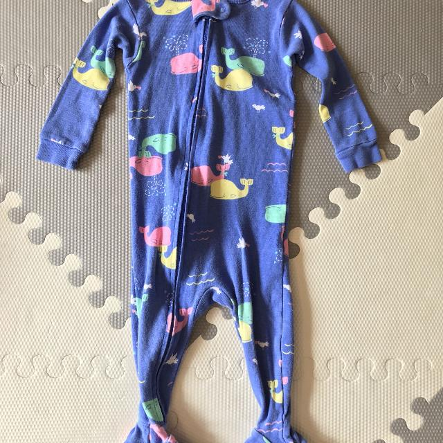 78d0b4112e Best Euc Carters Cotton Whale Zip Up Sleeper 9 Months for sale in Ajax