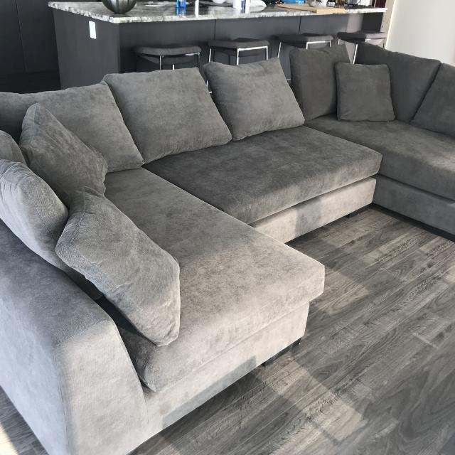 Find More Structube Cooper Grey Modular Sectional Sofa For Sale At