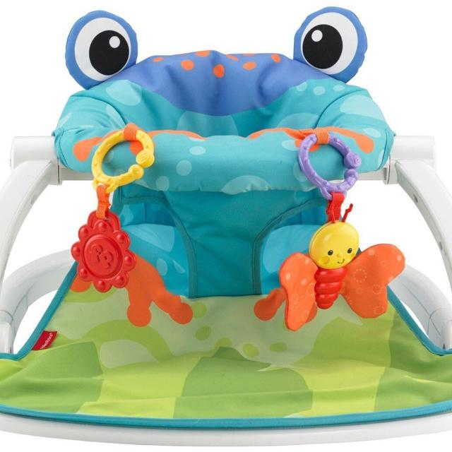 Fisher Price Sit Me Up Floor Chair Baby Seat Frog