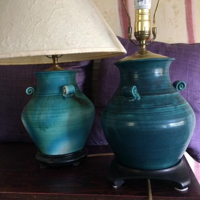 Lamps, Handmade Pottery Lamps