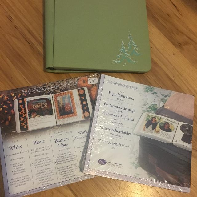 Creative Memories 7x7 album w/pages and protectors