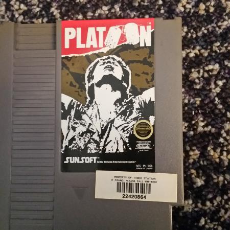 Platoon game - Original Nintendo... for sale  Canada