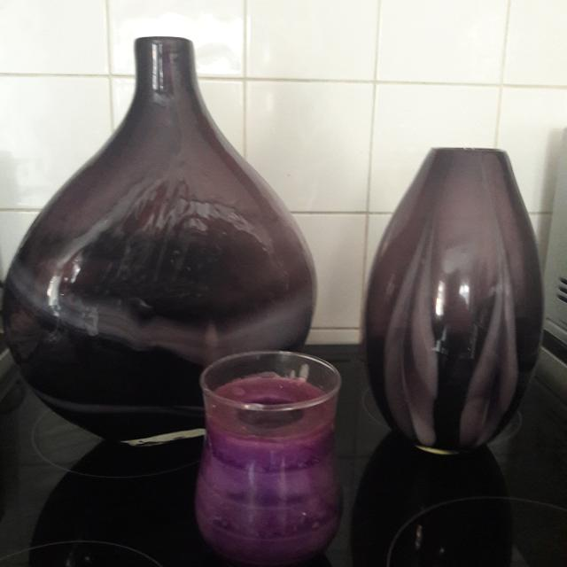 Find More 2 Large Purple Vases And Candle For Sale At Up To 90 Off