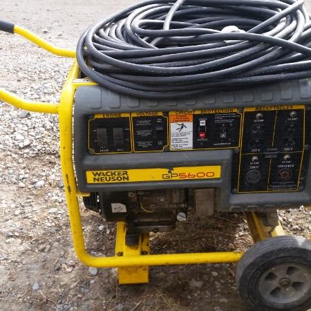 Used, Wacker GP5600 Generator Retails for... for sale  Canada