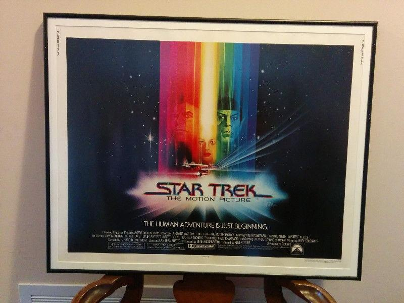 Framed theatre movie posters from the Star Trek movies
