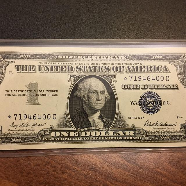 Best 1957 Silver Certificate Unc 1 Star Note For Sale In Hahira