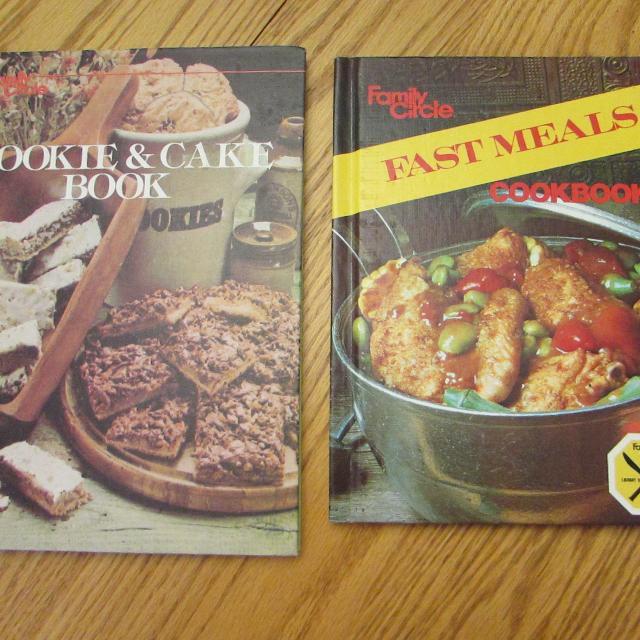 2 Vintage Family Circle Cookbooks