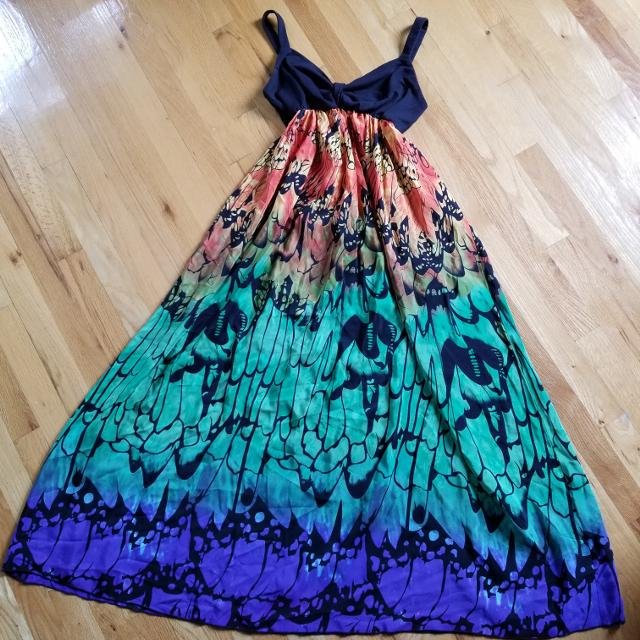 00aba3b9a3 Find more Stunning Maxi Dress, 100% Silk Bottom, M for sale at up to ...