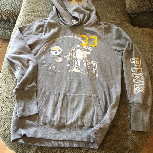 on sale 4242b 63648 Victoria's secret pink Pittsburgh Steelers football sweatshirt size large