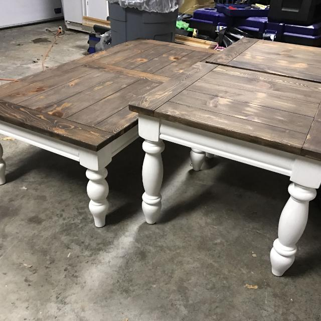 Find More Farmstyle Coffee Table And Two End Tables For Sale At Up