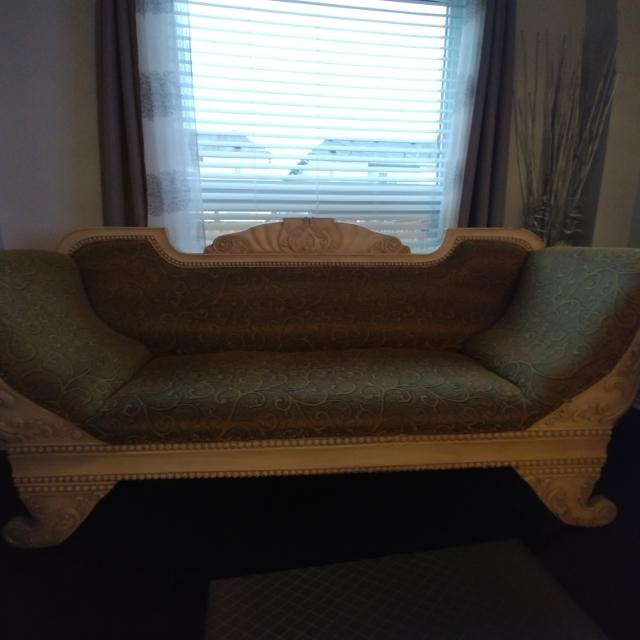 Antique Looking Fabric Sofa