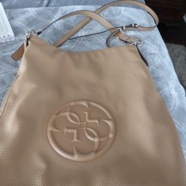 Best Beautiful Tan Leather Guess Bag for sale in Clarington 6aec0245431b2