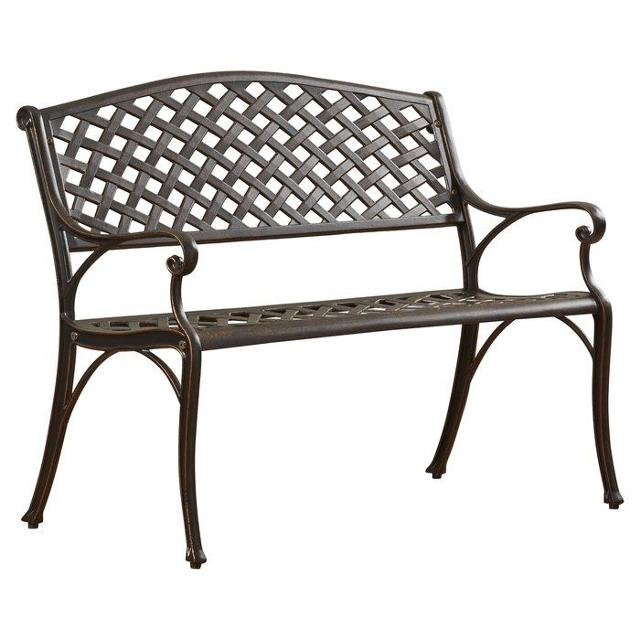 Find More New In Box Antique Bronze Cast Aluminum Garden Bench For