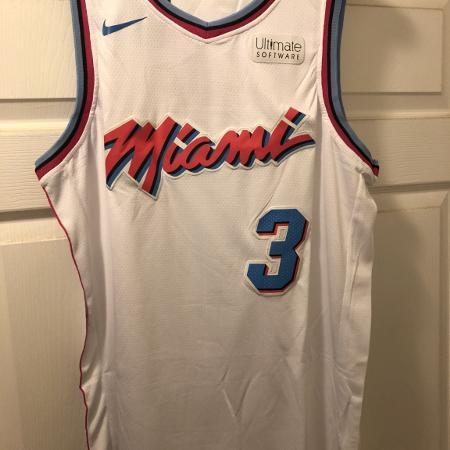 7c4a3d3ad8a Dwyane Wade Miami Heat 2018 city version jersey