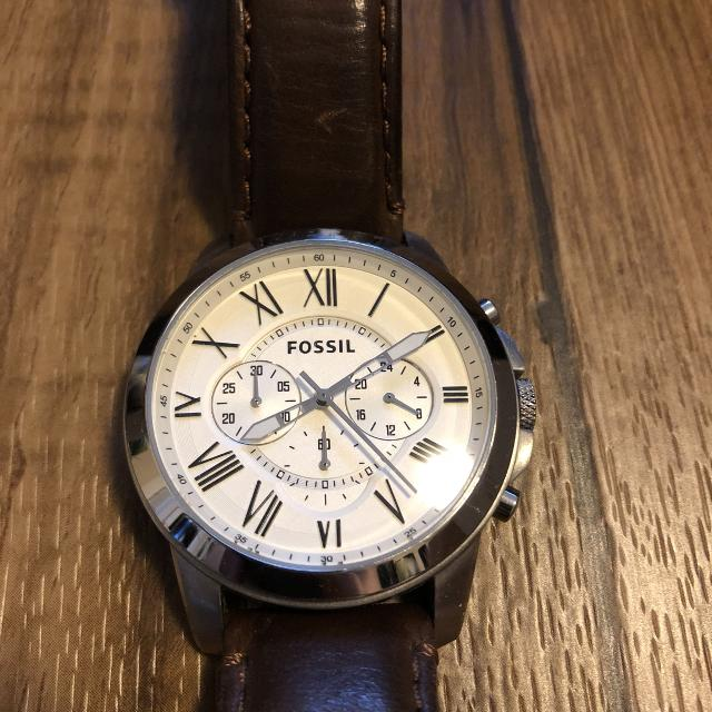 a1bd5d53ea865 Find more Fossil - Grant Chronograph Brown Leather Watch for sale at ...