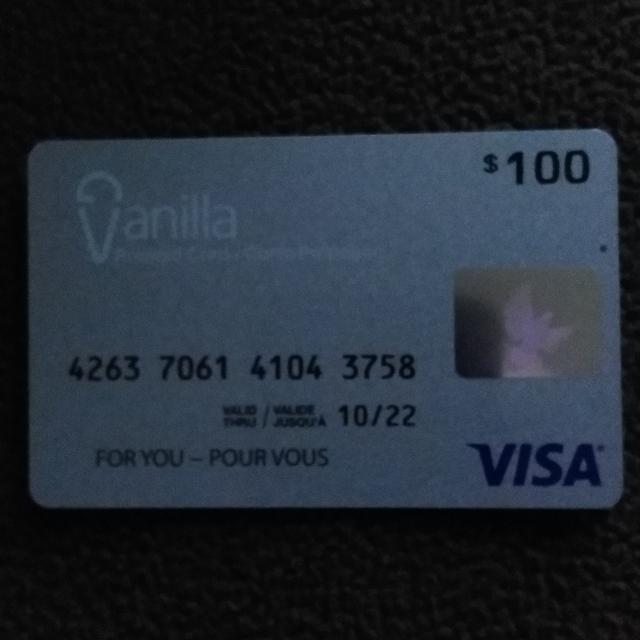 Vanilla prepaid ViSA $12