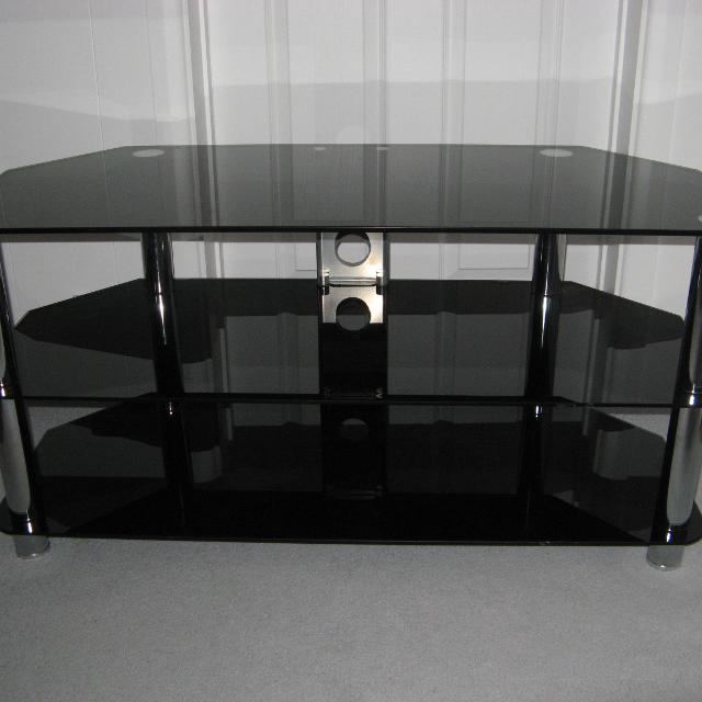 Best Black Glass And Chrome Tv Stand For Sale In Cornwall For 2019