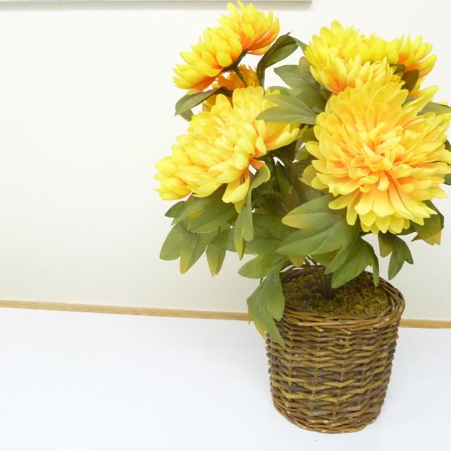 Best selling yelloworange silk flowers in pot for sale in winnipeg selling yelloworange silk flowers in pot mightylinksfo