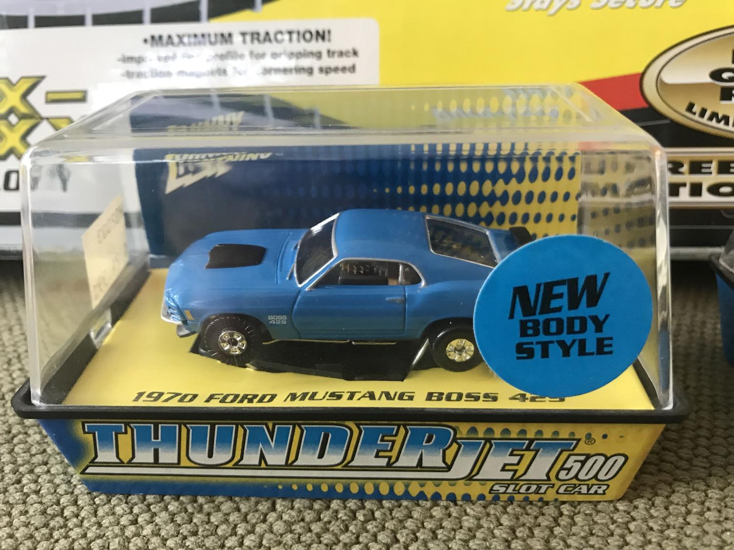 3 Slot Cars Ho Scale (Mustang, Pontiac GTO and Ford Torino)$30 00 for the  lot