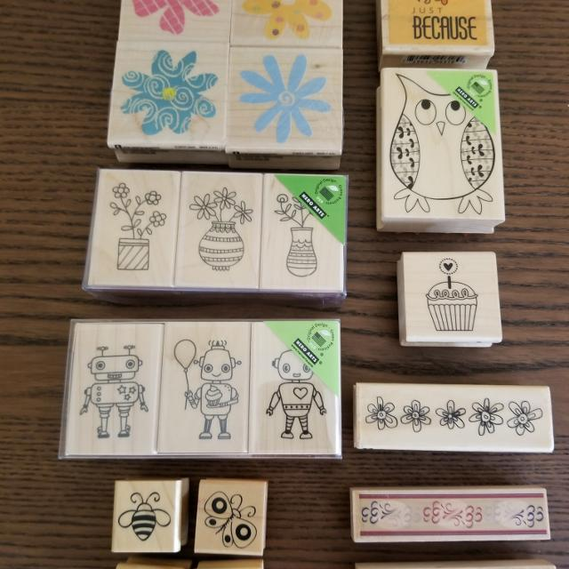 Stamps - Flowers, Robots