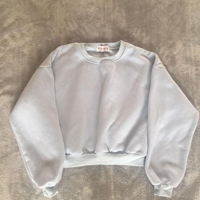 Best Baby Blue Cropped Sweater For Sale In Victoria British