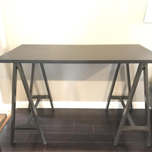 Black Desk With Metal Legs From Wayfair